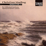 Per Vollestad and Sigmund Hjelset: (cover) Sinding Songs, vol 2